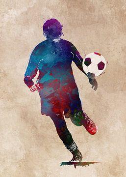 Voetbalspeler 3 sportkunst #voetbal #voetbal #voetbal van JBJart Justyna Jaszke