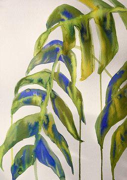 Regnerische Blätter von Helia Tayebi Art