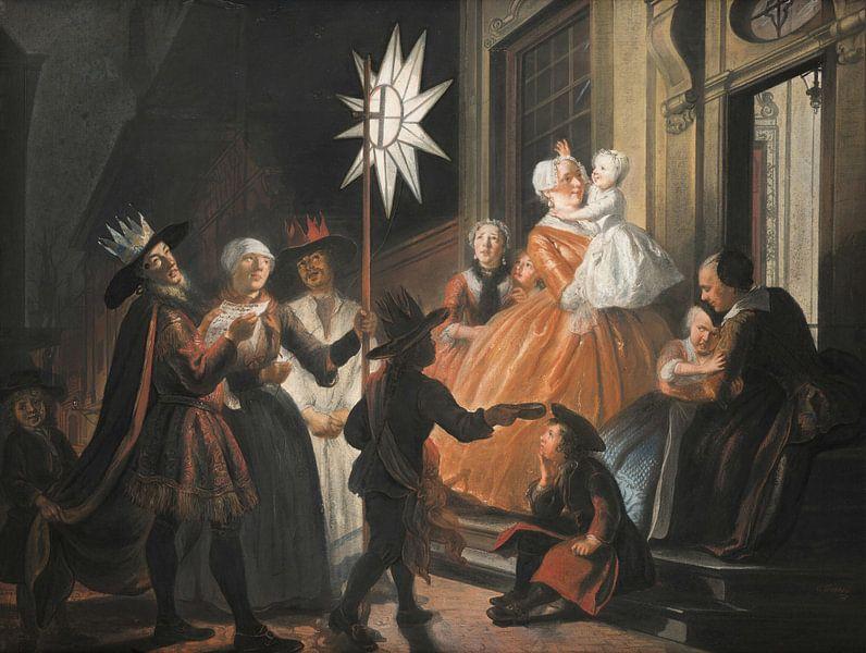 Singen um den Stern in der Zwölften Nacht, Cornelis Troost von Meesterlijcke Meesters