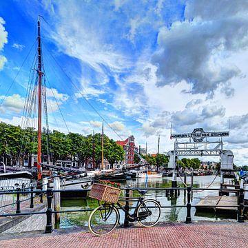 Nieuwe Haven Dordrecht Nederland van Hendrik-Jan Kornelis