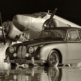 La voiture familiale Jaguar MK 2 dans les années 60 sur Jan Keteleer