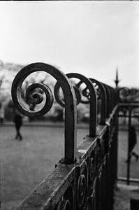 Montmartre, Parijs, in zwart-wit