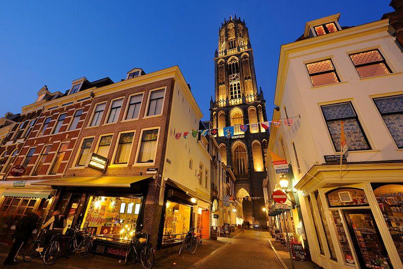 Vismarkt, Servetstraat met Dom, Lichte Gaard in Utrecht van Donker Utrecht