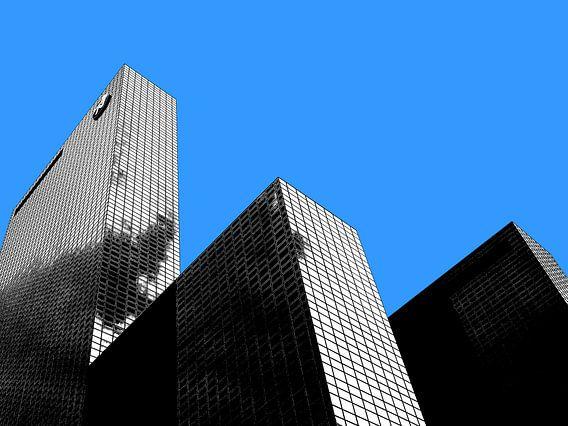 Rotterdam: Gebouw Delftse Poort - clear blue sky