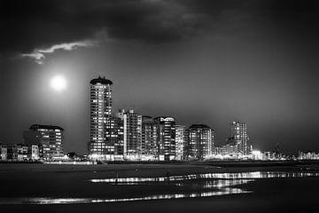 Vlissingen Skyline schwarz-weiß von Ingrid Van Damme fotografie