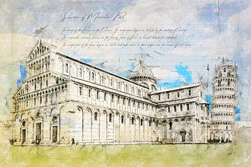 Piazza dei Miracoli, Pisa von Theodor Decker