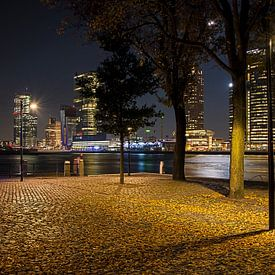 Rotterdam parkkade  bij nacht van Eisseec Design