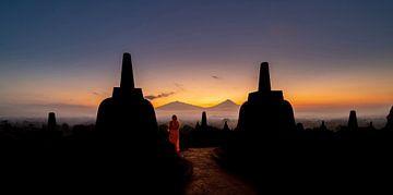Borobudur sunrise van
