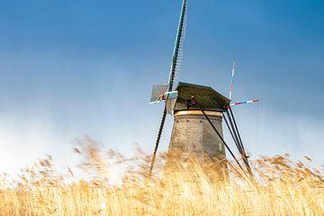 Windmühle im Wind von Paul Vergeer