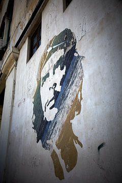 Muurschildering che guevara van Karel Ham