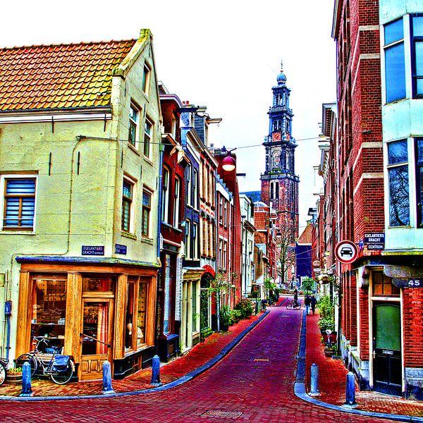 Colorful Amsterdam #108 van Theo van der Genugten
