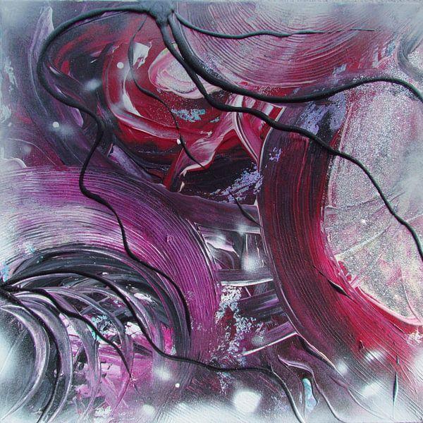 Abstrakte Kunst - Purpur Lights von Patricia Piotrak