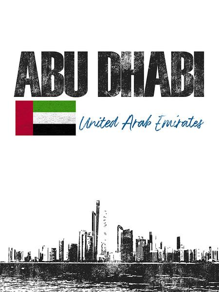 Abu Dhabi Arabische Emiraten van Printed Artings