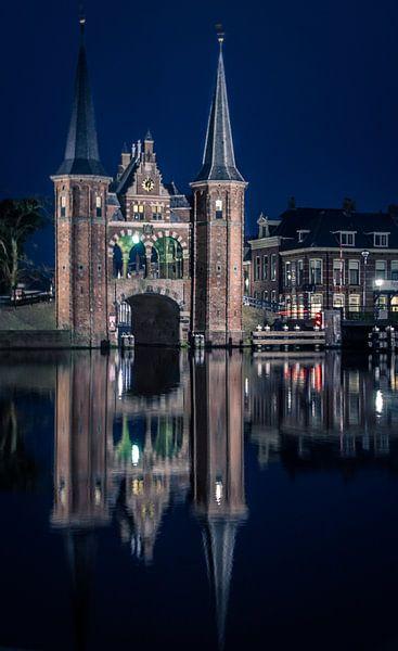 Waterpoort Sneek van Ettie van der Meulen-Vermaning