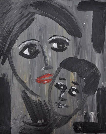 Vrouw met kind van Jose Beumers