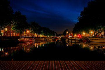 Avond Weerdsingel, vanuit de Bemuurde Weerd, Utrecht. von George Ino