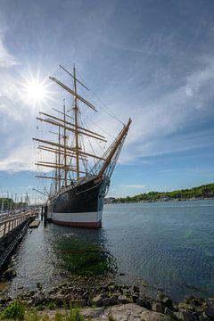 Museumschip Passat in de jachthaven van Travemuende, de Duitse viermaster stalen barkas is een van d van Maren Winter