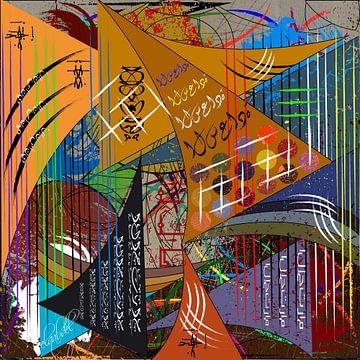 Abstrakte und zeitgenössische digitale Arbeiten mit geometrischen Formen von EL QOCH