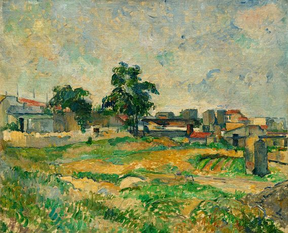 Landschap in de buurt van Parijs, Cézanne van Liszt Collection