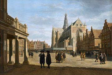 Le Grand Marché, Haarlem, Gerrit Berckheyde sur