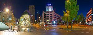 Panorama Centrum Eindhoven in de nacht