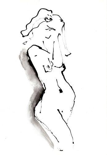 Staand naakt von Desiree Meulemans