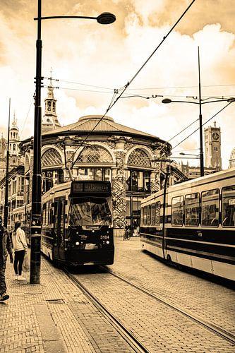 Binnenstad van Den Haag Nederland Sepia