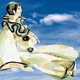 Lange Lijs der Pierrot auf einer Reise. von Ineke de Rijk