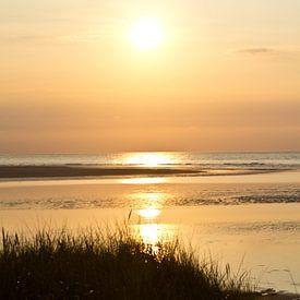 Sonnenuntergang am Meer van Andrea Fettweis