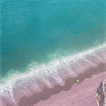 Strandlied - Strand en surfen Etretat - Normandië -Frankrijk van Dirk Wüstenhagen