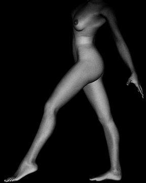 Naakte vrouw – Naaktstudie van Silvie No 1 van Jan Keteleer