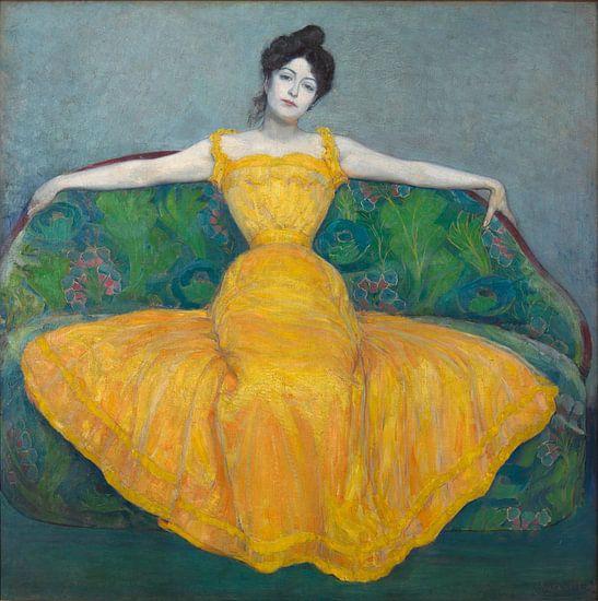 Dame im gelben Kleid, Max Kurzweil