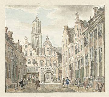 Nieuwstraat in Utrecht met gezicht op de Domtoren, Johanna de Bruyn