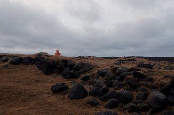 Oranger Leuchtturm von Anita van Hengel