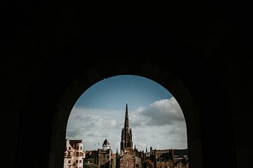 Royal Mile von Edinburgh Castle (Schottland) | Farbenfrohe Reisefotografie von Trix Leeflang