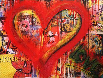 Red Heart Heroes van Kathleen Artist Fine Art