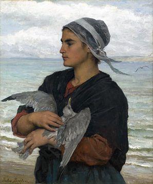Jules Breton, De gewonde zeemeeuw - 1878