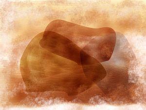 Des formes organiques abstraites aux couleurs terreuses