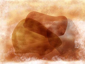 Abstrakte organische Formen in erdigen Farben von Maurice Dawson