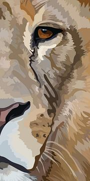 Leeuw portret van Anne Dellaert