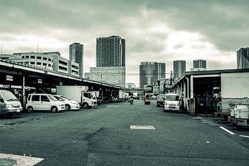 Donkere dag in de haven van Tokyo van Mickéle Godderis