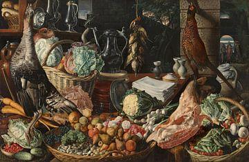 Küchenszene mit Christus bei Emmaus, Joachim Beuckelaer