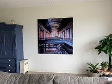 Klantfoto: Verlaten Industrie in Verval. van Roman Robroek, op print op doek