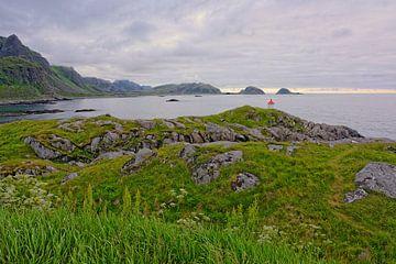 Ein Sommerabend in Hovden - am Meer in Norwegen von Gisela Scheffbuch