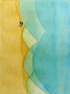 De strandwandeling van