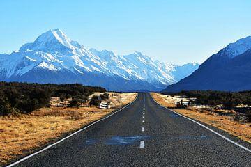 Uitzicht op Mount Cook van Kelly Van den elshout