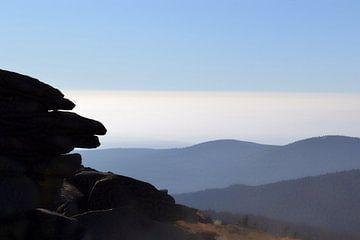 Blick vom Gipfel des Brocken