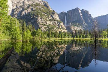 Weerspiegeling in Yosemite National Park van Reis Genie