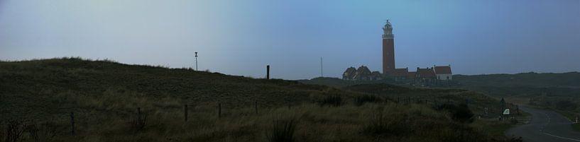 Panorama vuurtoren op Texel van Lonneke Klomp