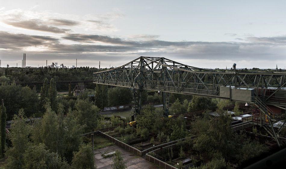 Oude werkloze kraan landschaftspark Duisburg